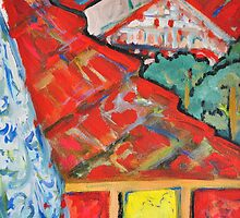 Out of the Window - Our Street 2 by Julie-Ann Vellios