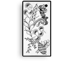 Traditional Black & White Zentangle Canvas Print