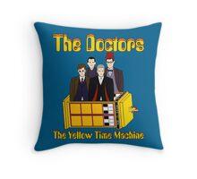 The Yellow Time Machine (Plain Background) Throw Pillow