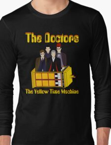 The Yellow Time Machine (Plain Background) Long Sleeve T-Shirt