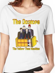 The Yellow Time Machine (Plain Background) Women's Relaxed Fit T-Shirt