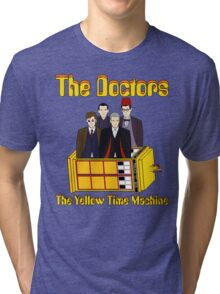 The Yellow Time Machine (Plain Background) Tri-blend T-Shirt