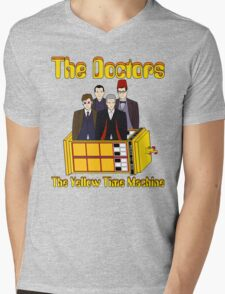 The Yellow Time Machine (Plain Background) Mens V-Neck T-Shirt