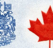 Canada 1964 series Maple Leaf stamp and Coat of Arms Sticker