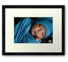 Love in turquoise Framed Print