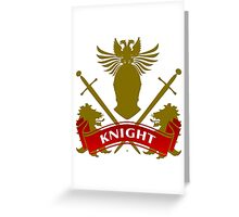 Fit For A Knight Coat-of-Arms Greeting Card