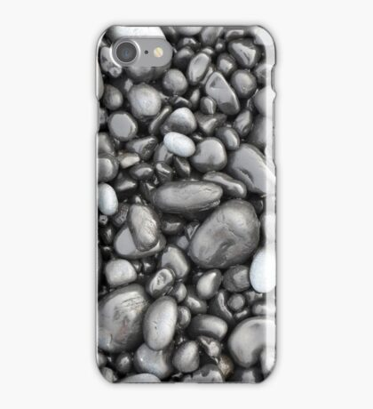 Black lava pebbles pattern iPhone Case/Skin