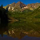 Lost Maroon Bells Reflection by Roschetzky
