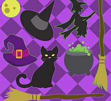 Halloween Witch Pattern by thekohakudragon