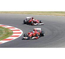Ferrari F10, Fernando Alonso & Felipe Massa Photographic Print