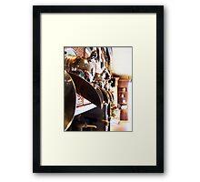 Copper hammered coffee bins Framed Print