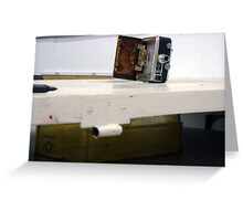 camera door, photograph, temporary assemblage  Greeting Card
