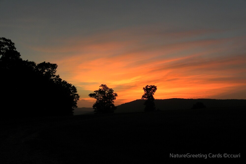 Ozark Sunset 2 by NatureGreeting Cards ©ccwri