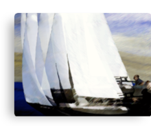 yachts #81, racing oneself.. an abstract on the open sea Canvas Print
