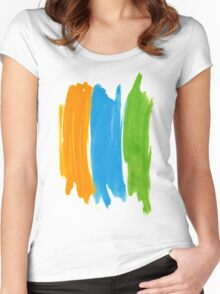 3 color INK Women's Fitted Scoop T-Shirt