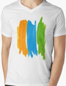 3 color INK Mens V-Neck T-Shirt