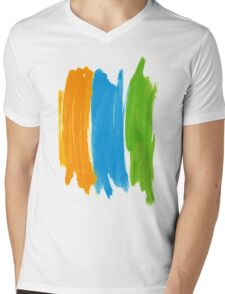 3 color INK Mens V-Neck T-Shirt