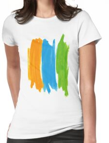 3 color INK Womens Fitted T-Shirt