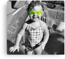 Swim Goggles Canvas Print