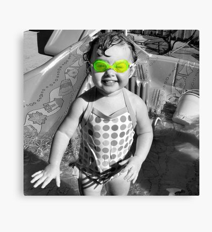 Swim Goggles Canvas Print