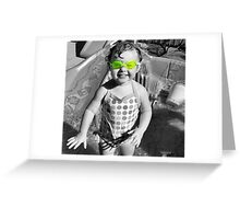 Swim Goggles Greeting Card