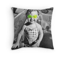 Swim Goggles Throw Pillow