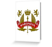 Fit For A Baroness Coat-of-Arms Greeting Card