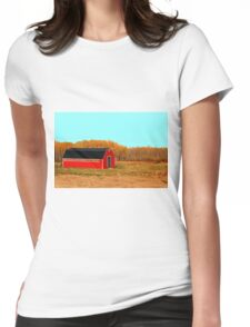 Ye Long Red Barn Womens Fitted T-Shirt