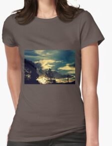 Sunset In The Suburb Womens Fitted T-Shirt