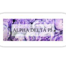 Lilac Alpha Delta Pi Print Sticker
