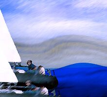 yachts #61, racing oneself.. an abstract on the sea by banrai