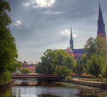 Uppsala Cathedral - Uppsala near Stockholm, Sweden by Mark Richards
