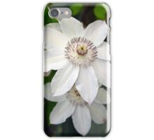 White clematis flowers iPhone Case/Skin