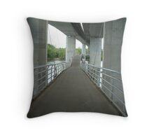pedestrian bridge Throw Pillow