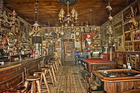 Nevada's Oldest Thirst Parlor (INside) by pat gamwell
