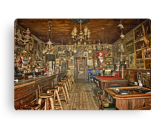 Nevada's Oldest Thirst Parlor (INside) Canvas Print