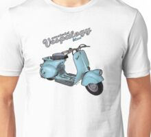 Scooterist Vespalogy (blue) Unisex T-Shirt