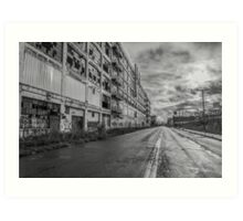 Fisher Body 21 Plant in Black and White  Art Print