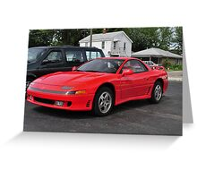 Red Sports Car Greeting Card