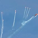 F16 deploying countermeasure flares by SWEEPER