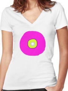 Target Pink/Yellow   T SHIRT/Baby grow/sticker Women's Fitted V-Neck T-Shirt