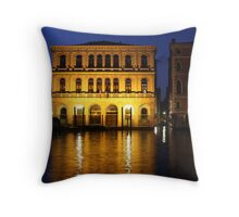 Early Morning Walkabout in Venice Throw Pillow