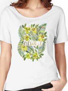 Killin' It – Tropical Yellow Women's Relaxed Fit T-Shirt
