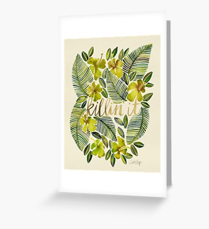Killin' It – Tropical Yellow Greeting Card