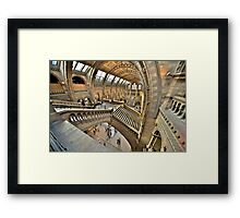 Natural History Museum Staircases Framed Print