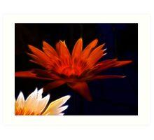 Amber submerged Lotus Flower - fractalius Art Print