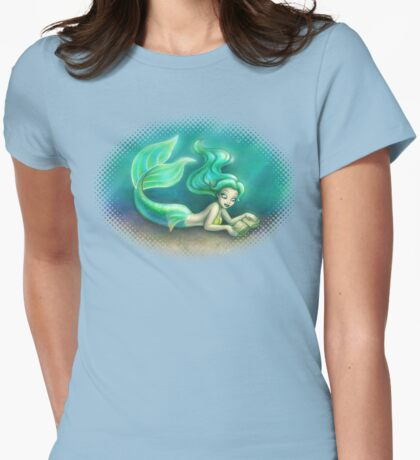 Underwater Reading Womens Fitted T-Shirt