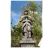 War memorial, Saint-Sauveur, France Poster