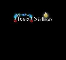 Tesla > Edison by Merkits