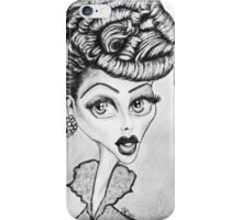 Lucille Ball Caricature iPhone Case/Skin